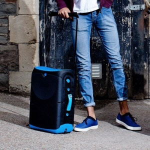 Jurni Sit-On Carry-On Suitcase - Blue